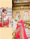image of Beautifully Embroidered Pink Color Classy Designer Saree In Georgette And Net Fabric