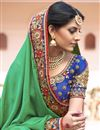 photo of Georgette Fabric Wedding Wear Marvelous Green Color Designer Saree With Embroidery Work