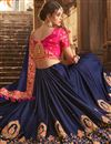 photo of Fancy Party Wear Saree In Art Silk Navy Blue