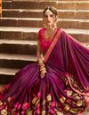 photo of Art Silk Sangeet Ceremony Wear Purple Embellished Saree With Heavy Blouse