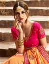 photo of Party Wear Fancy Mustard Designer Saree In Art Silk