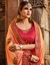 photo of Function Wear Salmon Color Art Silk Designer Saree With Fancy Blouse