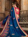 photo of Designer Wedding Wear Navy Blue Art Silk Fancy Saree With Embroidered Blouse