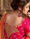 photo of Eid Special Fancy Party Wear Saree In Orange Art silk