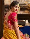 photo of Golden Art Silk Fancy Party Wear Designer Saree