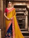 image of Golden Art Silk Fancy Party Wear Designer Saree