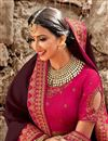 photo of Function Wear Wine Art Silk Designer Saree With Embroidered Blouse
