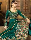 photo of Eid Special Wedding Wear Art Silk Teal Embroidered Lehenga From Mother Daughter Collection