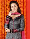 photo of Enchanting Grey Color Party Wear Digital Print Salwar Suit In Satin Fabric