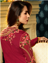 picture of Eid Special Malaika Arora Crimson Color Embroidered Churidar Suit In Georgette With Jacket