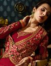 pic of Eid Special Malaika Arora Crimson Color Embroidered Churidar Suit In Georgette With Jacket