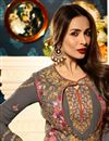 pic of Eid Special Malaika Arora Georgette Grey Fancy Salwar Suit With Koti