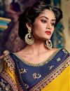 photo of Eid Special Yellow Color Party Wear Saree In Fancy Fabric With Embroidery Work And Designer Blouse
