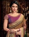 photo of Festive Wear Designer Burgundy Fancy Fabric Saree With Heavy Blouse