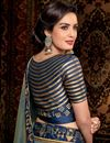 photo of Designer Sangeet Wear Saree With Embroidered Blouse In Grey