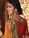 photo of Occasion Wear Fancy Fabric Embroidered Saree In Orange Color With Designer Blouse