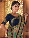 photo of Embroidery Work On Fancy Fabric Sea Green Color Function Wear Saree With Marvelous Blouse