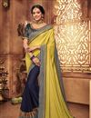 image of Khaki Color Fancy Fabric Wedding Wear Saree With Embroidery Work And Gorgeous Blouse