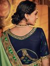 photo of Green Fancy Fabric Festive Wear Saree With Embroidery Work