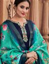 photo of Navy Blue Casual Palazzo Suit In Georgette With Printed Dupatta