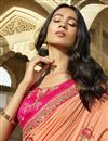 photo of Designer Peach Function Wear Art Silk Embroidered Fancy Saree