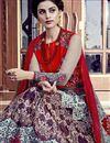 photo of Silk Fabric Long Length Designer Anarkali Salwar Suit In Red Color