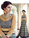 photo of Long Length Silk Fabric Beige Color Embroidered Anarkali Salwar Suit