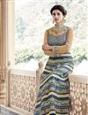 picture of Long Length Silk Fabric Beige Color Embroidered Anarkali Salwar Suit