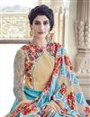 photo of Designer Sky Blue Color Silk Fabric Embroidered Anarkali Suit