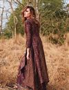 photo of Brown Gown Style Long Kurti In Rayon Fabric