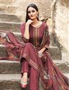 photo of Fancy Fabric Pink Color Festive Wear Embroidered Straight Cut Suit