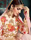 picture of Designer Wedding Wear Pink Color Georgette Long Floor Length Embroidered Anarkali Dress