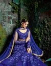 photo of Designer Wedding Wear Blue Color Net Long Floor Length Embroidered Anarkali Dress