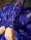 photograph of Designer Wedding Wear Blue Color Net Long Floor Length Embroidered Anarkali Dress