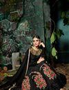 photo of Wedding Party Wear Designer Black Color Silk Fancy Floor Length Anarkali Salwar Kameez