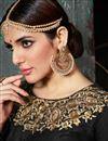 picture of Wedding Party Wear Designer Black Color Silk Fancy Floor Length Anarkali Salwar Kameez
