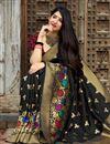 photo of Traditional Wear Black Fancy Weaving Work Banarasi Style Silk Saree