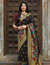 image of Traditional Wear Black Fancy Weaving Work Banarasi Style Silk Saree
