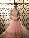 image of Pink Party Style Designer Net Embroidered Long Anarkali Suit