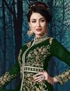 photo of Georgette Fabric Dark Green Color Function Wear Embroidered Anarkali Suit