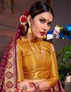 photo of Art Silk Fancy Sangeet Wear Weaving Work Saree In Purple