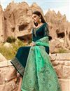 photo of Georgette Embroidered Designer Salwar Suit In Teal With Fancy Dupatta