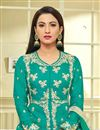 photo of Gauhar Khan Embellished Palazzo Suit In Teal