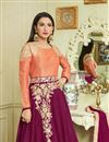 photo of Gauhar Khan Long Floor Length Embroidered Anarkali Dress