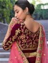 photo of Maroon Color Velvet Fabric Bridal Wear Lehenga Choli
