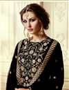 photo of Embroidered Georgette Straight Cut Churidar Dress