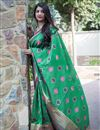photo of Traditional Function Wear Green Fancy Art Silk Saree