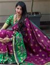 photo of Traditional Function Wear Fancy Art Silk Saree In Purple