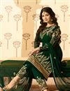 picture of Ayesha Takia Featuring Straight Cut Salwar Suit In Dark Green Georgette With Embroidery Work