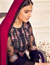 photo of Festive Special Embroidery Work Navy Blue Color Viscose And Georgette Fabric Palazzo Salwar Suit